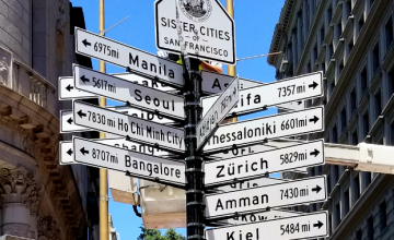 Sister Cities of San Francisco Directional Signs Display